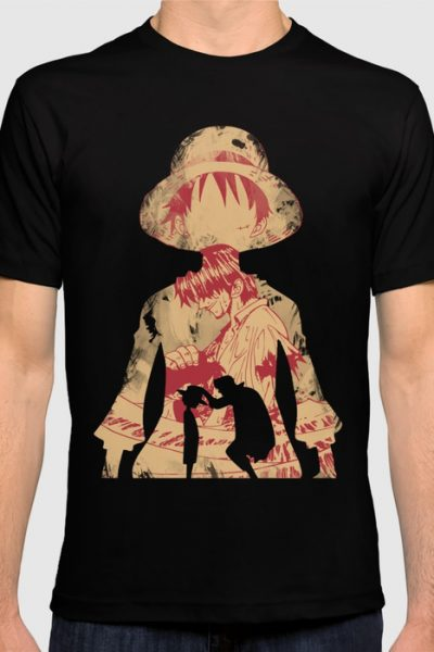 Luffy and Shanks T-shirt by ipinations
