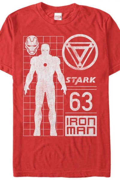 Marvel – Stark Contrast Adult Regular Fit T-Shirt