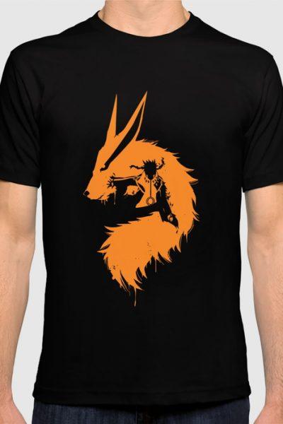 Naruto & Kurama T-shirt by ipinations