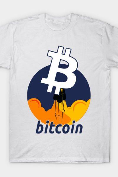 Rocket to The Moon : Bitcoin Edition T-Shirt