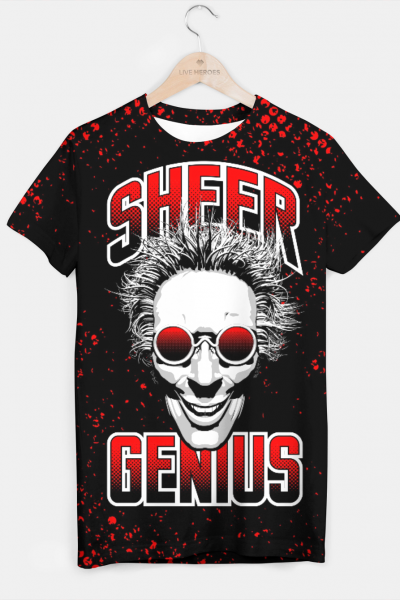 Sheer Genius T-shirt, Live Heroes