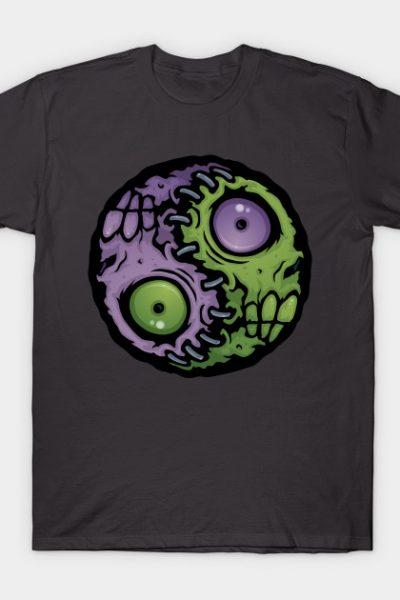 Zombie Yin-Yang T-Shirt by Fizzgig