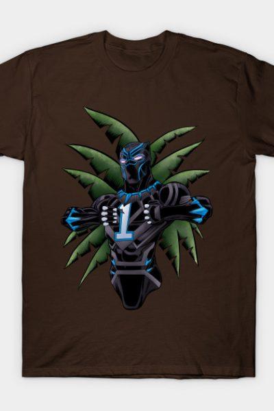 Black Panther Celebrates Carolina Panther Style T-Shirt
