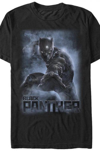 Black Panther Smoke Adult Regular Fit T-Shirt