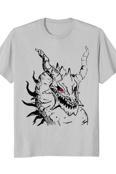 Fantasy Red Eyes Dragon Art Graphic