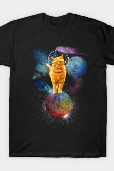 Ginger Space Cat Astronaut