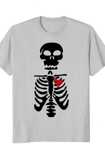 Skeleton Heart Dark Valentines