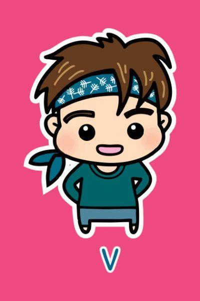V BTS special T-shirt