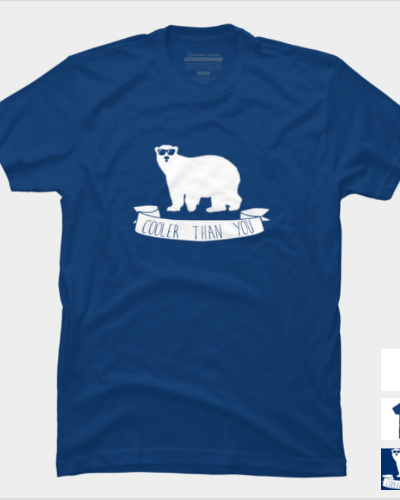 Cooler Than You Funny Polar Bear Slogan Shirt – DBH