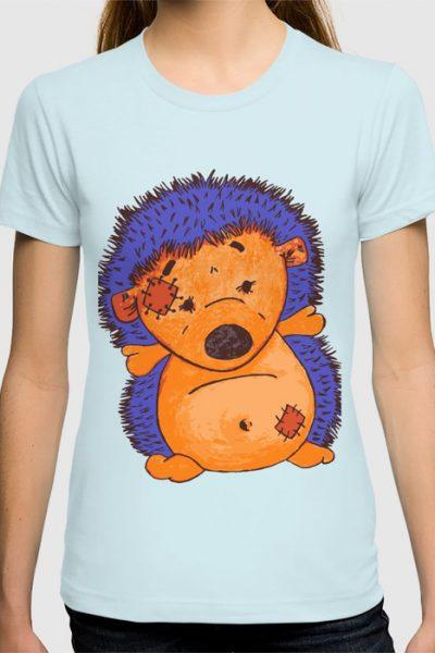 Cuddly Hedgehog T-shirt by pabrimel