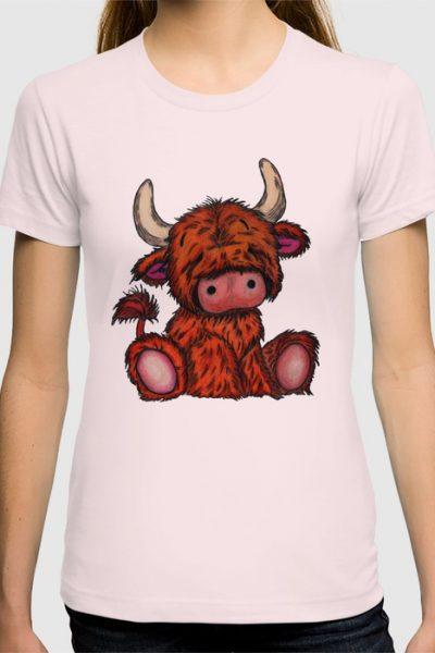 Cuddly Highland Cattle T-shirt by pabrimel