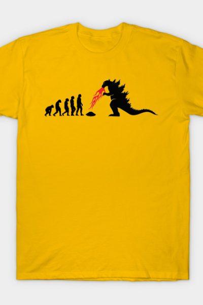 Evolution Godzilla by oldtee