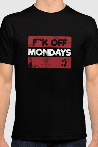 F**K OFF MONDAYS ;) RED GRUNGE T-shirt by pabrimel