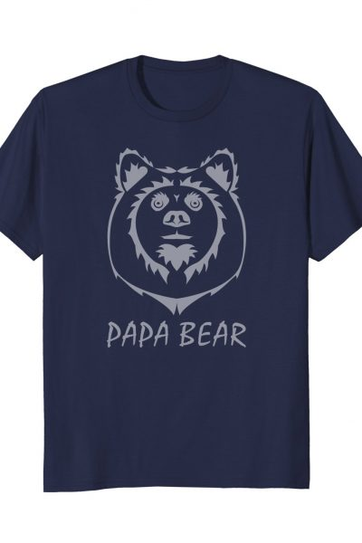 Mens Tribal Papa Bear Manly Graphic