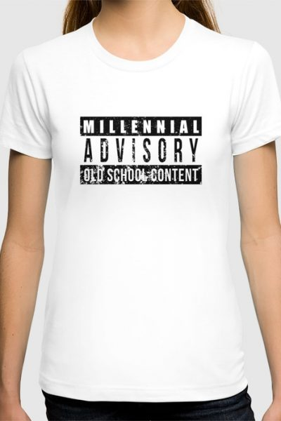 Millennial Advisory! Old School Content T-shirt by pabrimel