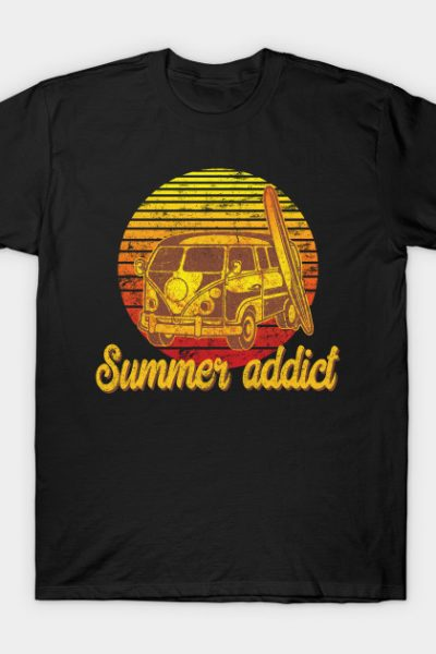 Retro Vintage Van Summer Addict T-shirt