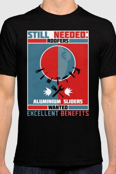 Roofers & Aluminium Sliders T-shirt by therocketman