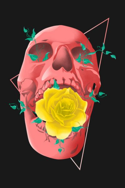 Skull and Rose by enitsujsuarez16