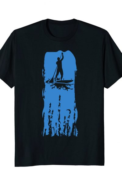 Stand Up Paddle Board Brush Stroke Graphic
