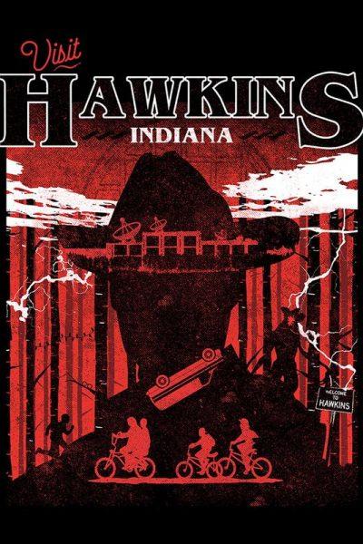 Stranger Things Visit Hawkins Indiana Men's T-Shirt