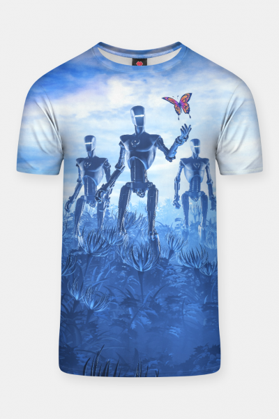 Tech Meets Nature T-shirt, Live Heroes
