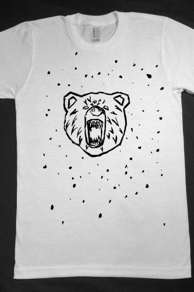 The Bear .. Black on White