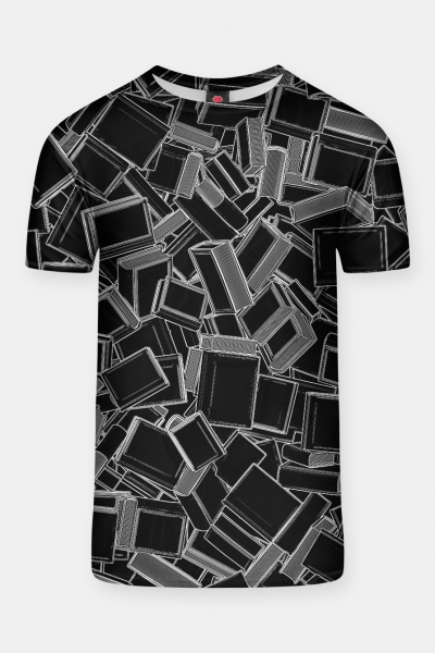 The Book Pile T-shirt, Live Heroes