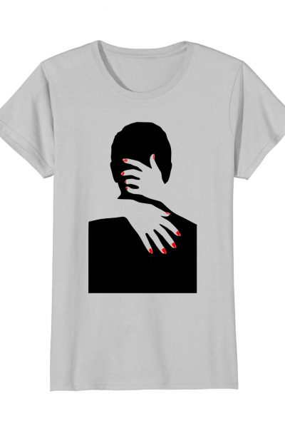 Womens Stylized Lovers Hugging Graphic