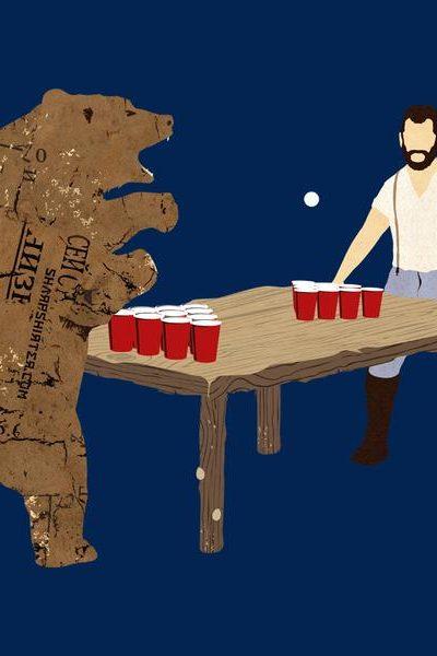 Bear Pong Men's Graphic Tee