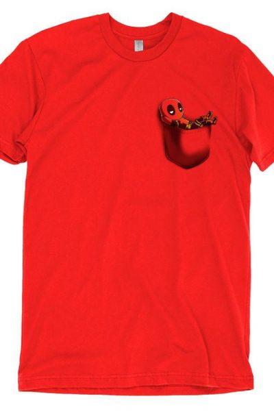 Deadpool Pocket T-Shirt   Official Marvel Tee – TeeTurtle