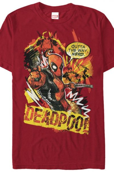 Deadpool Scribbles Adult Regular Fit T-Shirt