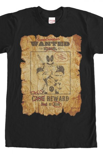 Marvel – Deadpool Wanted Adult Regular Fit T-Shirt
