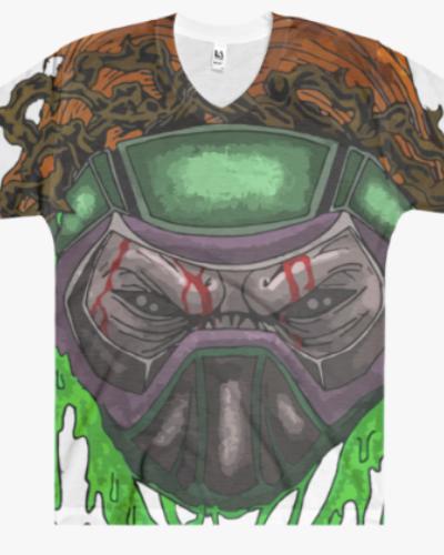 Orange Toxic Skull All Over