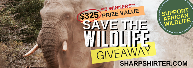 Announcing the Winners of the Sharp Shirter $325 Save The Wildlife Giveaway