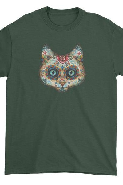 Cat Day Of The Dead Mens T-shirt