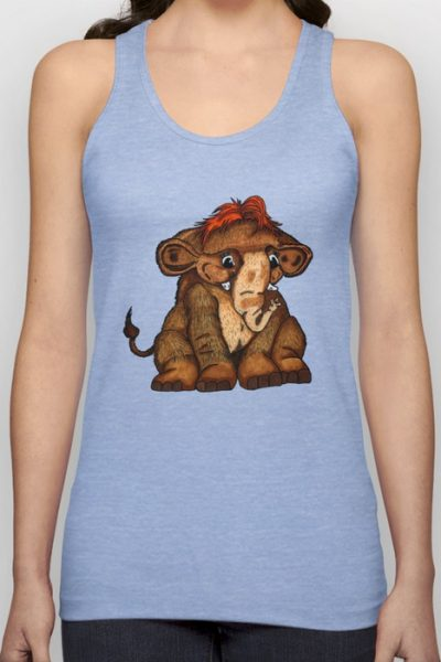 Cuddly Wolly Mammoth Unisex Tank Top by pabrimel