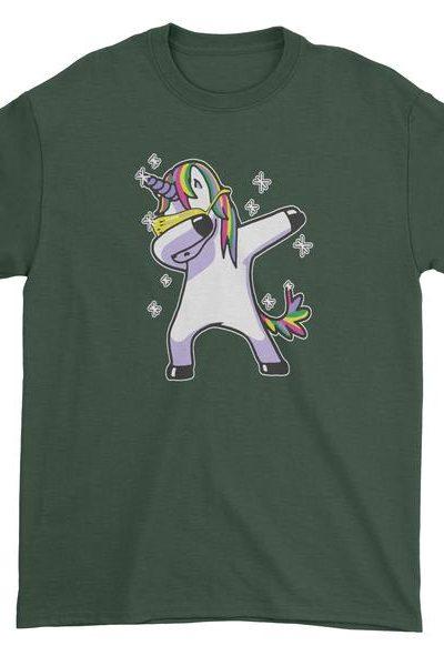 Dabbing Unicorn Mens T-shirt
