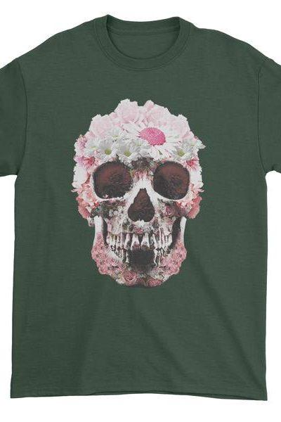 Daisy Skull Mens T-shirt