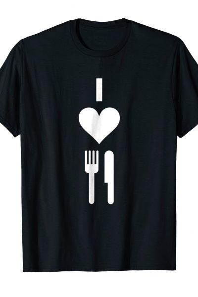 I Love Fork Knife Fortnite Video Game Tee Shirt