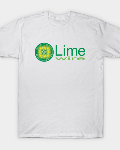 OG 2000s LimeWire Logo with Text T-Shirt