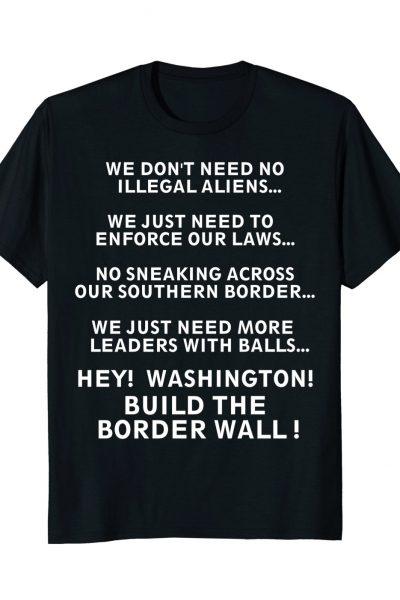 Pink Donald Border Wall Tee