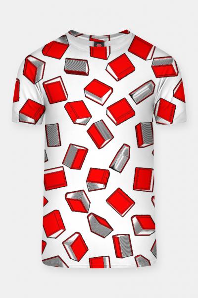 Polka Dot Books Pattern II T-shirt, Live Heroes