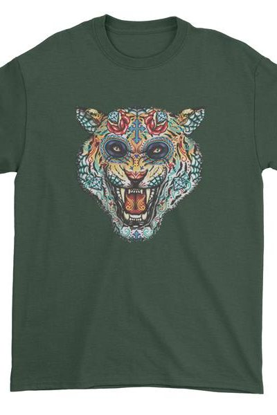 Tiger Day Of The Dead Mens T-shirt
