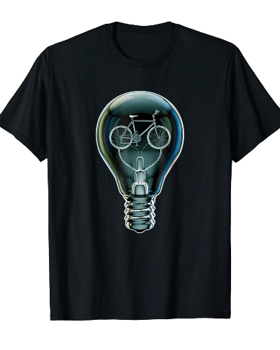 Dark Bicycle Light Bulb T-shirt