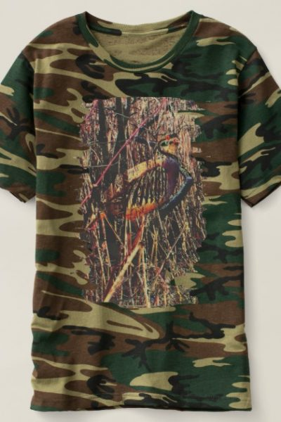 partridge camo design t-shirt