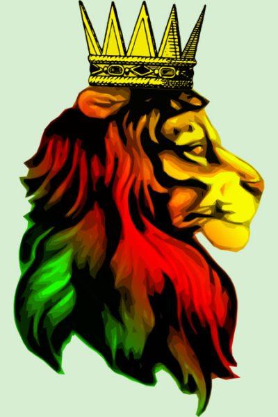 Reggae Rasta Lion. T Shirt By Tshirtevolution Design By Humans