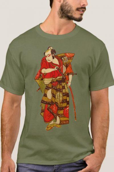 Samurai Japan Warrior Illustration Men T-Shirt