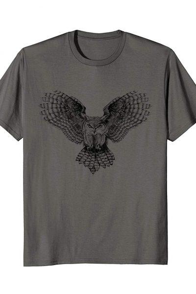 SWOOPING OWL – hand sketched bird of prey.