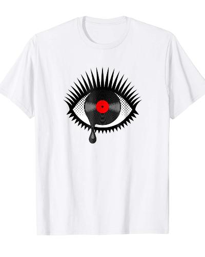 Weeping Vinyl Record Eye T-Shirt