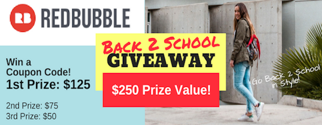 Redbubble $250 Back To School Giveaway